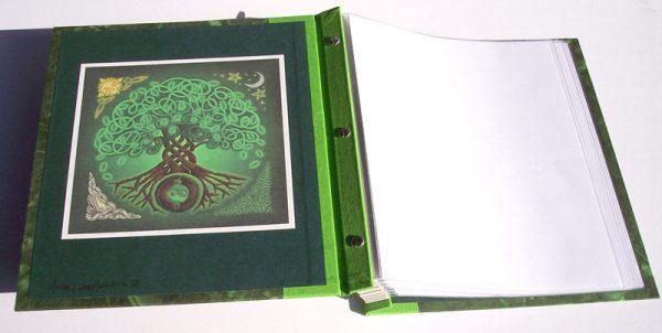 Celtic Knot Tree of Life Refillable Screwpost Irish Scrapbook