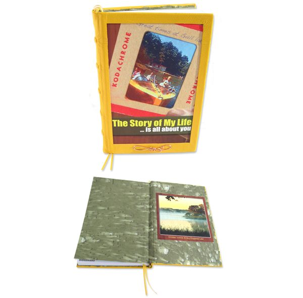 Leather Bound Memoir Book with Coversheet image
