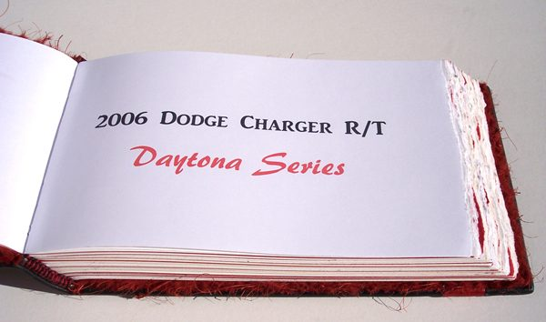 dodge charger book coversheet