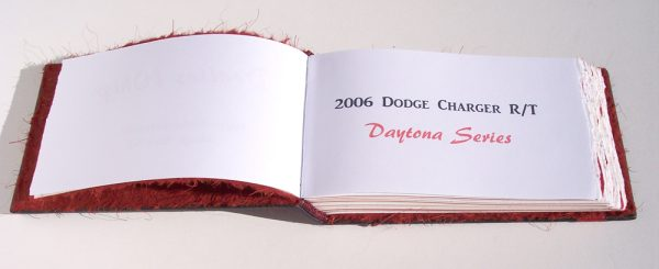 printed journal coversheet for dodge car