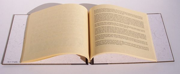 Screwpost binding with printed pages as biography memoir book