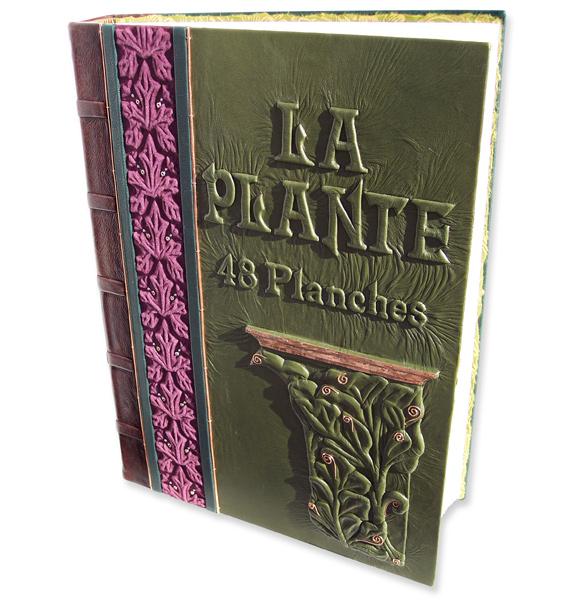 La Plant Eugene Gasset Art Nouveau Botanical Print Leather Portfolio Book