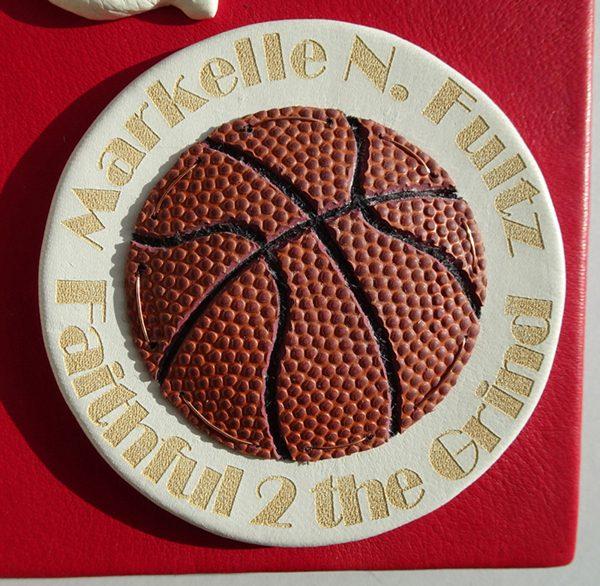 Markelle Fultz NBA Basketball Laser Etched Leather Logo