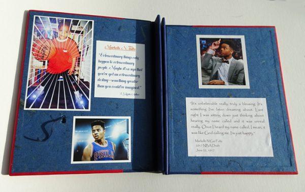 Markelle Fultz NBA Basketball Personalized Scrapbook coversheets