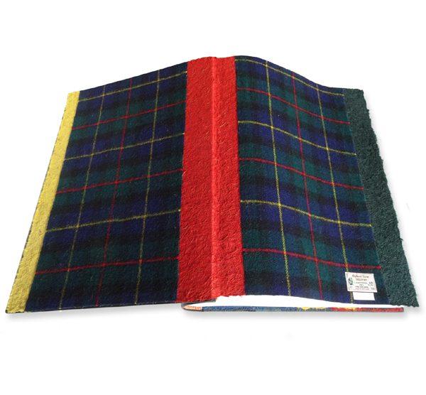 McLeod Scottish Tartan fabric on album coversheets