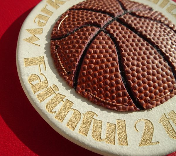 NBA Basketball Emblem Leather Laser Etched Book Cover Logo