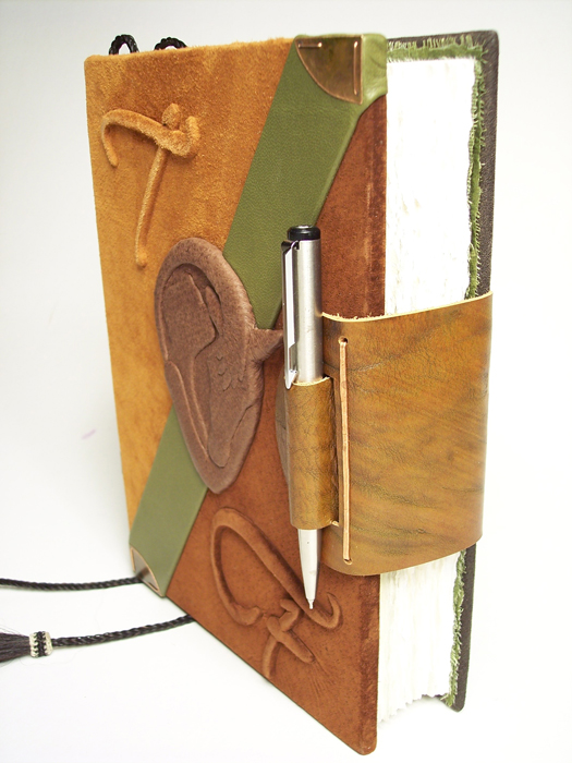 Pen Holder and Closure Flap on Leather Journal