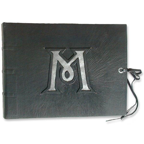 Scottish Leather Wedding Album with Silver Initial and Tartan Coversheets