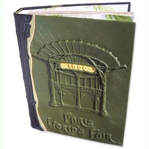 1900 Paris Worlds Fair Leather Book Art Deco Metropolitan Station