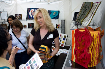 57th Street Art Fair Booth. Chicago, Custom Leather Books Resized