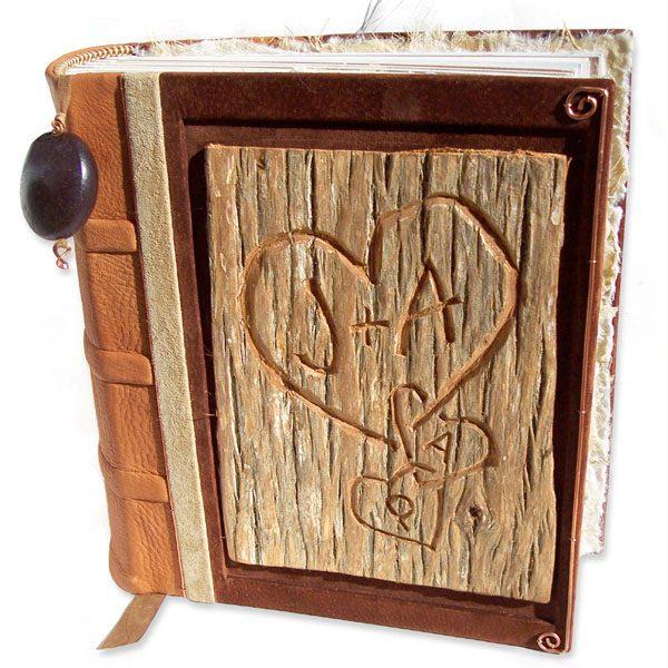 Carved Tree Bark Album