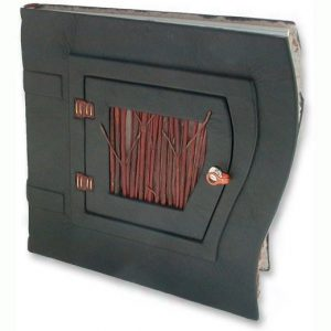 Curved Leather Journal with Hinged Twig Door