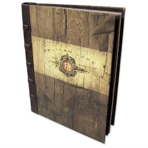 Custom Lake Property Book Personalized in Leather and Printed Fabric