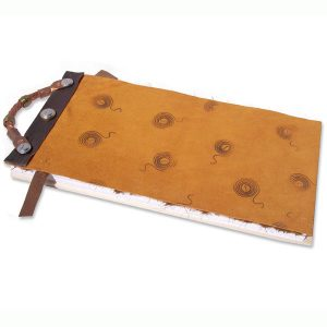 Refillable Leather Notebook with Handle