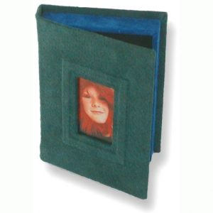 Green suede Photo Box