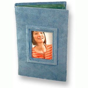 suede blue photo box
