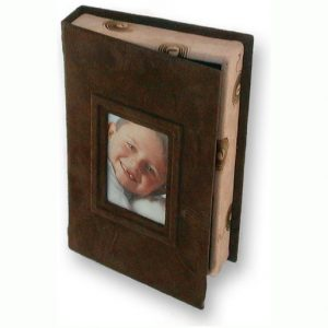 Brown suede Photo Box