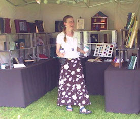 Marcia Engeltjes Art Fair Booth Custom Leather Books Resized