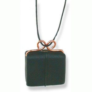 Refillable Black Necklace Book