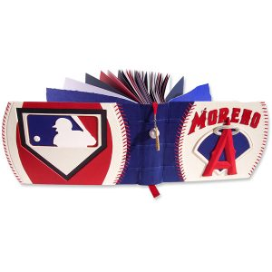 Angels Baseball Album with Major League Logo, Name, and Baseball Stitching