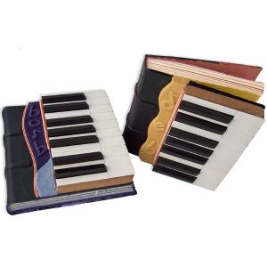 Custom Leather Piano Strings and Keys Music Books