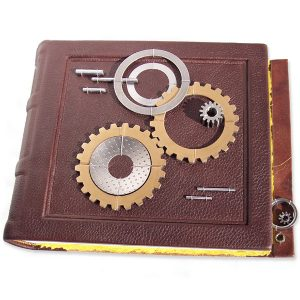 Leather Scrapbook with Diesel Truck Gears and Parts