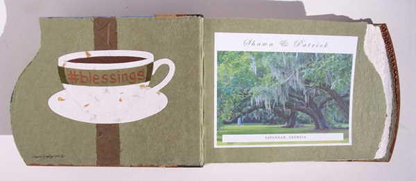 Custom Album Coversheets with Coffee Cup and Spanish Moss Tree