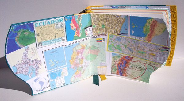 Ecuador South America Map Scrapbook coversheets