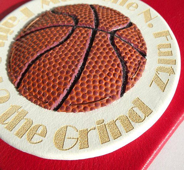 Fultz Basketball Emblem Leather Laser Etched Book