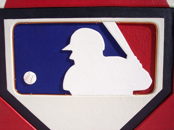 MLB Leather Logo on Book Cover