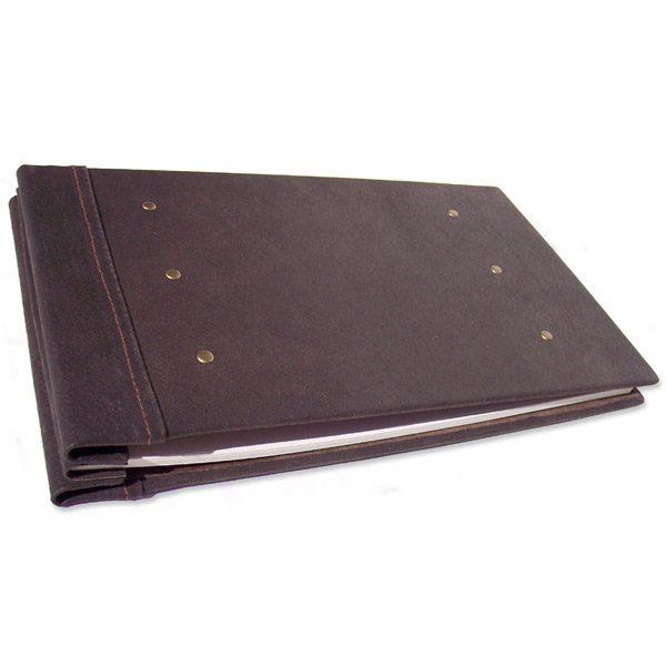 Refillable Leather Aviation Book, Pilot's Screwpost Flight Log Journal