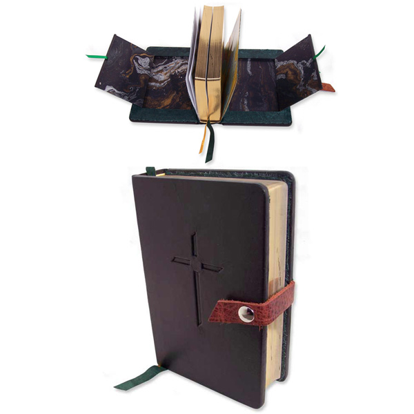 Snapped Military Bible with hidden compartments for photographs