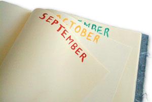 Handpainted months for birthdays and anniversaries