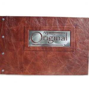 Leather Portfolio with Metal Logo