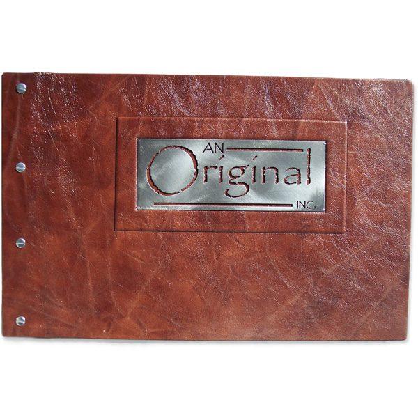 Leather Portfolio with Metal Logo