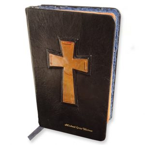 Copper Cross Bible with Gold Stamped Name