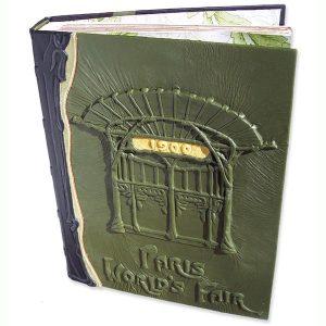 1900 Paris Worlds Fair Leather Book Art Deco Metropolitan Station