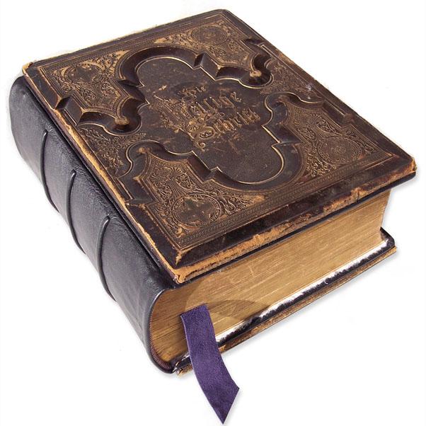 Antique German Bible Restoration