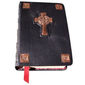 Copper Cross with Rosettes Bible