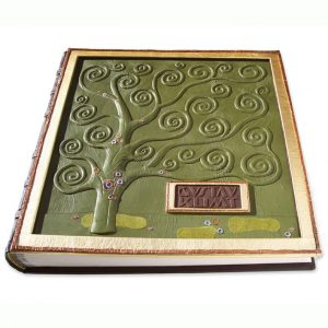 Gustav Klimt Custom Leather Art Book