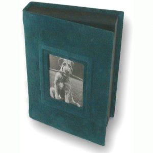 Suede Green Photo Box