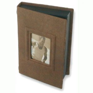 Brown Leather Photo Box