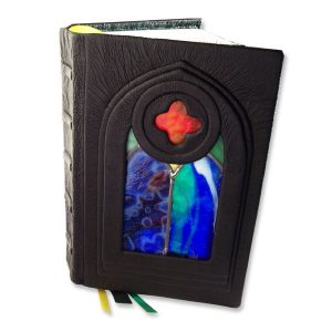 Gothic Stained Glass Window Bible